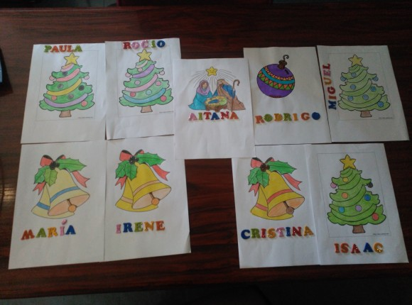 Trabajos Niños y Niñas, Navidad 2015 / 2016