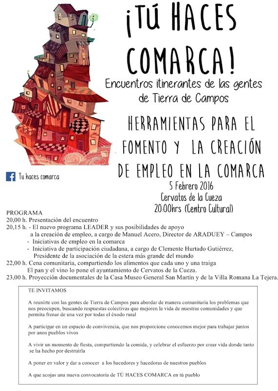 """Encuentro itinerante """"Tu haces Comarca"""" Cervatos de la Cueza 2016"""