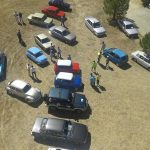 Vista coches clasicos desde mirador de Lomas