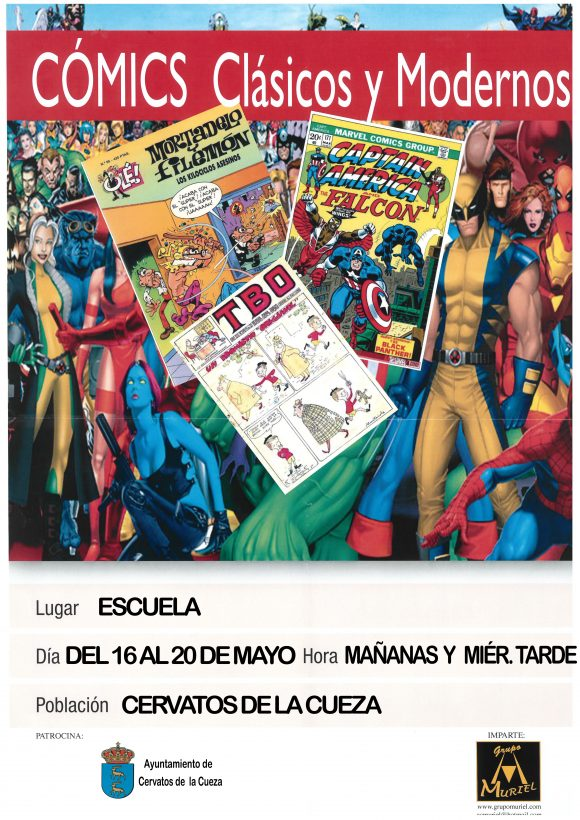 cartel exposición de comic